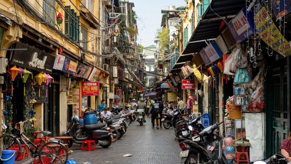 Calles Concurridas en Hanoi