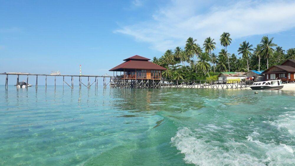 Las playas de la isla de Derawan, Kalimantan oriental