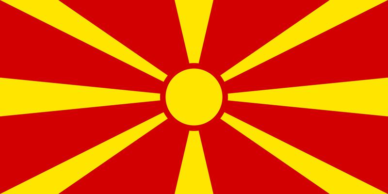Bandera de la República de Macedonia 2