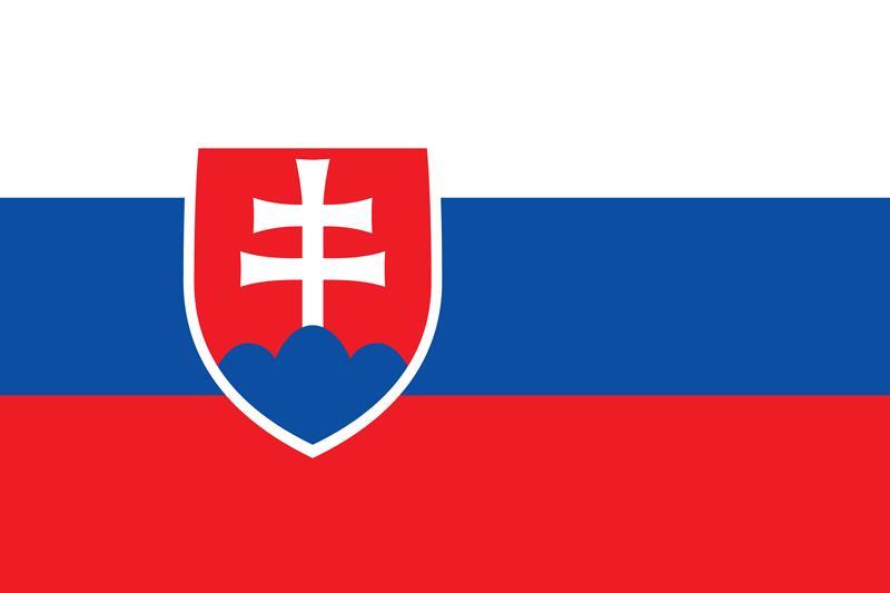 Bandera de Eslovaquia 2