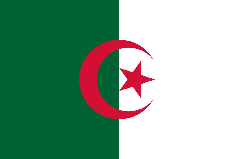 Bandera de Argelia 2