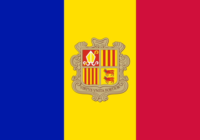 Bandera de Andorra 2