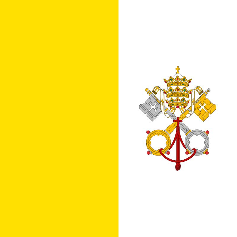 Bandera de la Ciudad del Vaticano 1