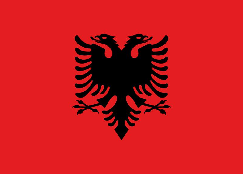 Bandera de Albania 1