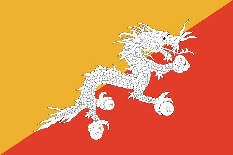 Bandera de Bhután 2
