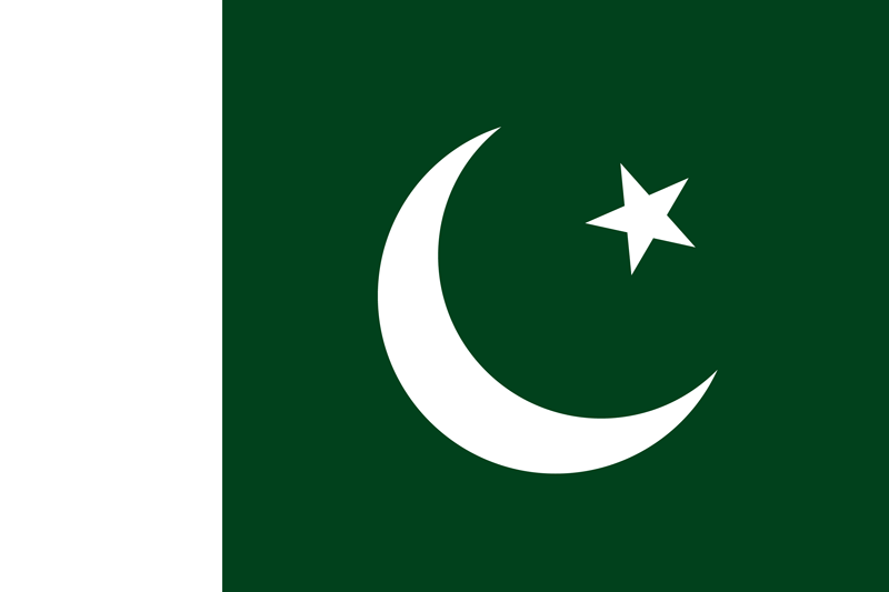 Bandera de Pakistán 1