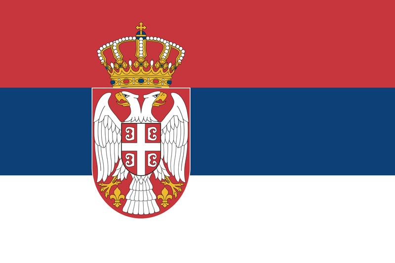Bandera de Serbia 1