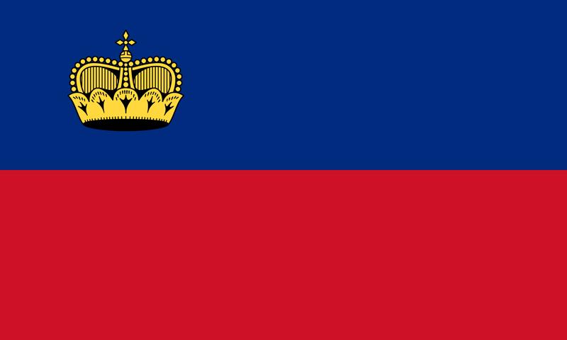 Bandera de Liechtenstein 1