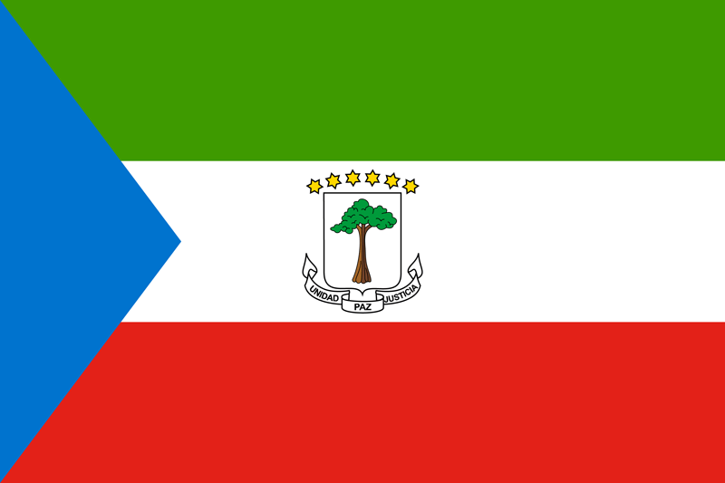 Bandera de Guinea Ecuatorial 1