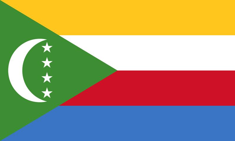 Bandera de las Comoras 2