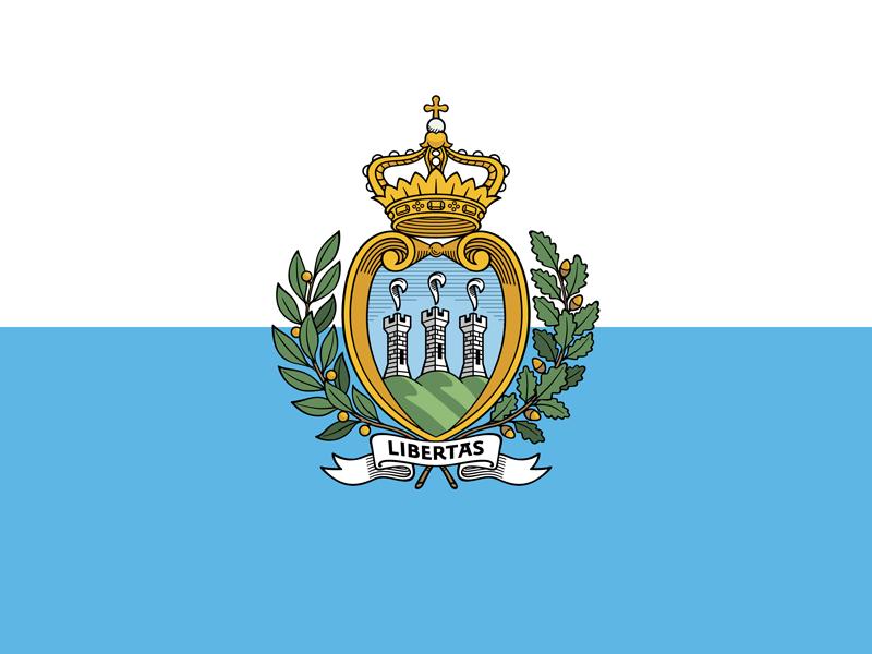 Bandera de San Marino 1
