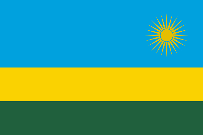 Bandera de Rwanda 2