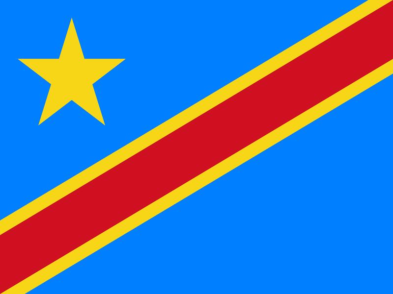 Bandera de la República Democrática del Congo 2