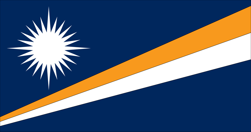 Bandera de las Islas Marshall 2