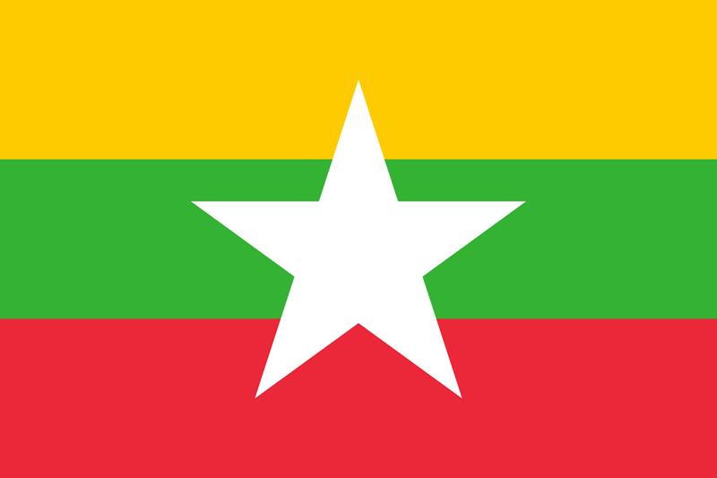 Bandera de Myanmar 1