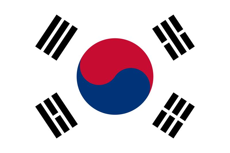 Bandera de Corea del Sur 2