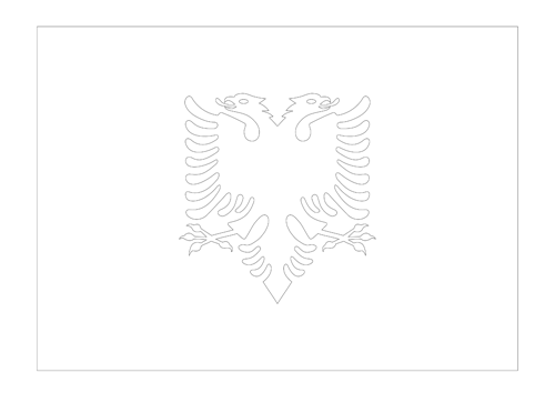 Bandera de Albania 2