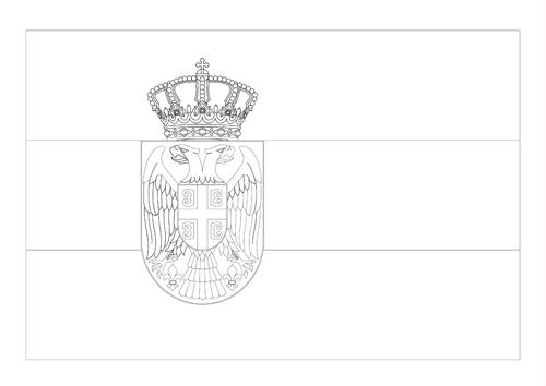 Bandera de Serbia 2