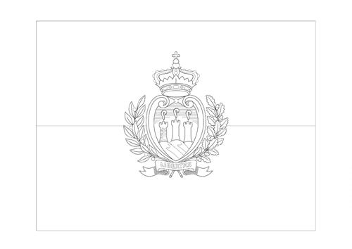 Bandera de San Marino 2