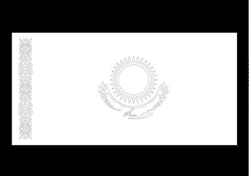 Bandera de Kazajstán 2