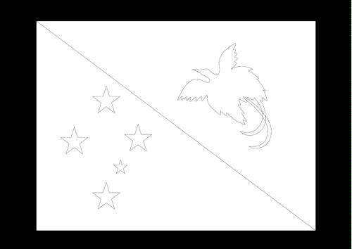 Bandera de Papua Nueva Guinea 4