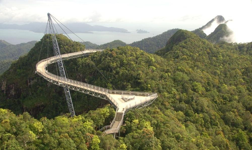 Destino Malasia Teleférico del puente aéreo de Langkawi