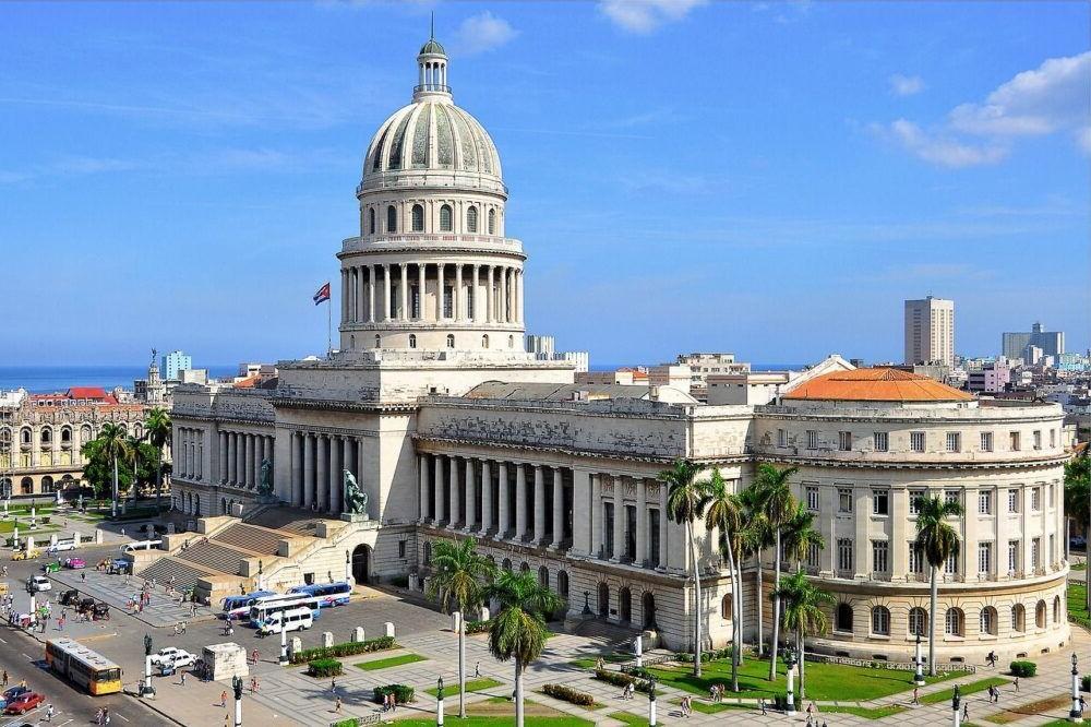 Edificio nacional en La Habana