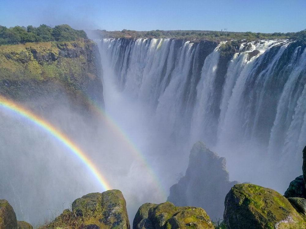 La hermosa vista de Victoria Falls