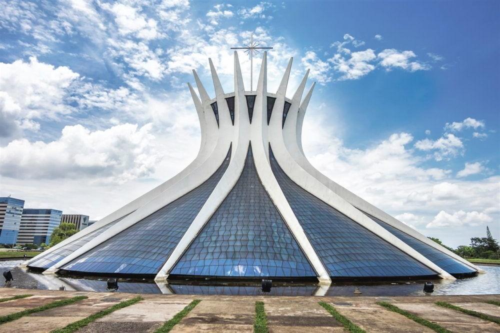 Una vista de la Catedral de Brasilia