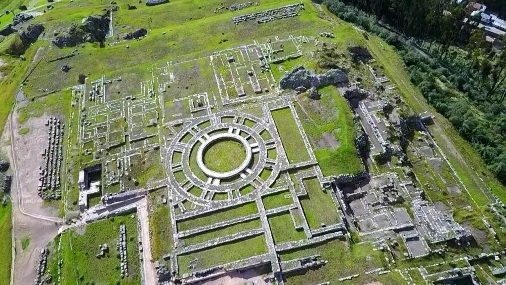 Vista aerea de la Sacsayhuaman