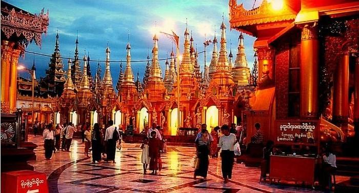 Vista de Rangún
