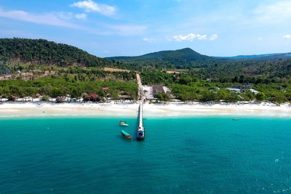 Vista de la costa de Koh Kong