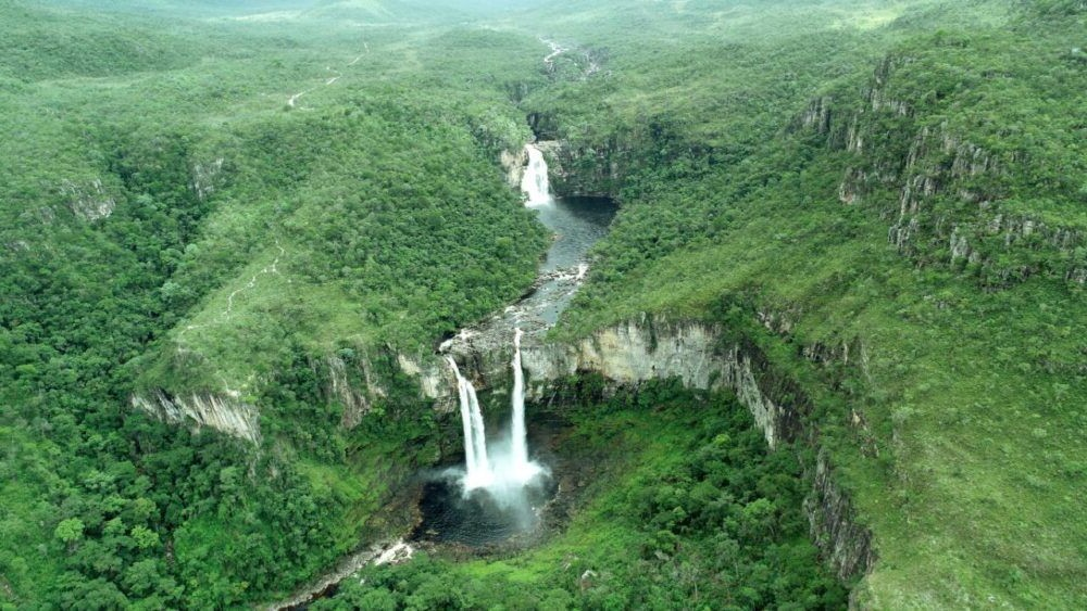 Vista desde las alturas del Parque Nacional Chapada dos Veadeiros