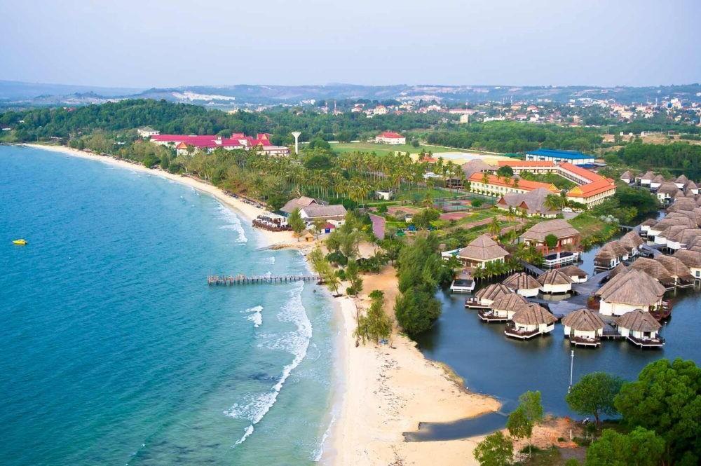 vista de la costa de Sihanoukville