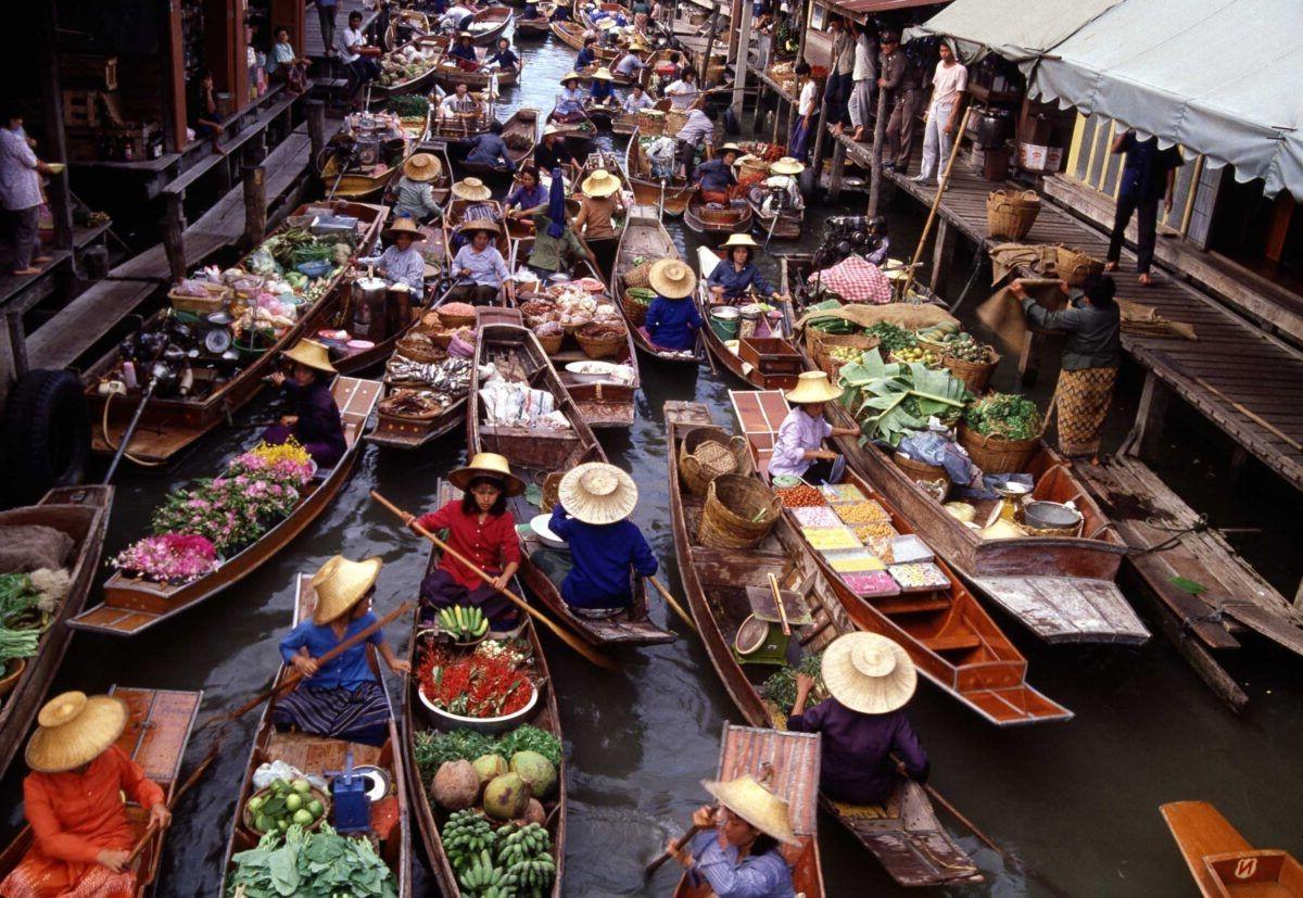 Mercados flotantes de Bangkok