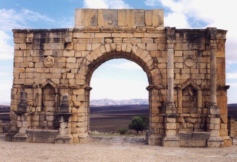 Arco De Caracalla En Volubilis