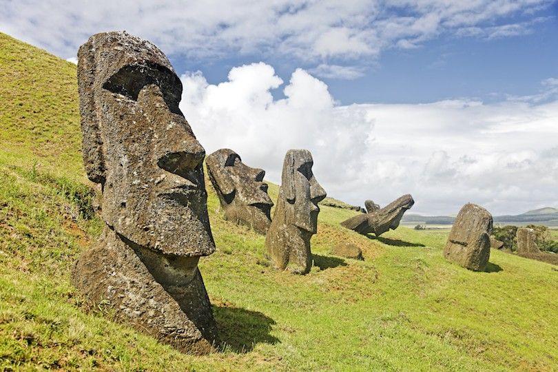 Moai Estatuas De Piedra