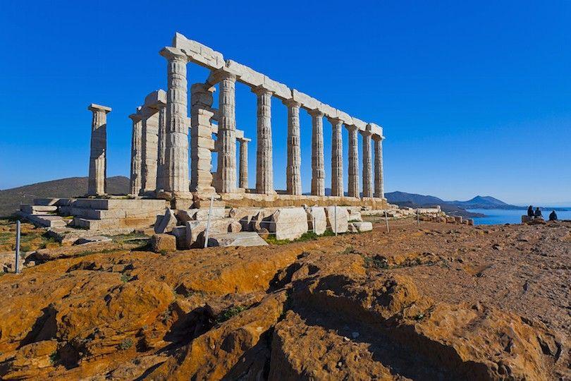 Templo De Poseidón En Sunion