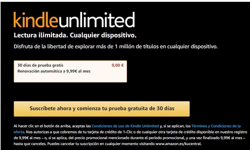 Suscripción a Kindle Unlimited