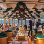 Crucero navideño con cacao y villancicos en Nueva York