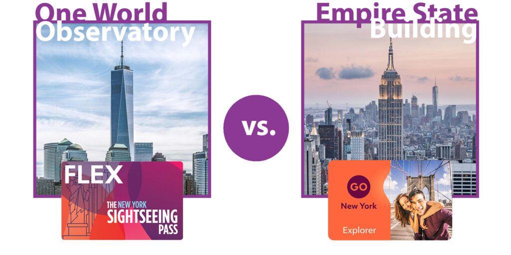 Sightseeing Flex Pass vs. Go New York Explorer Pass