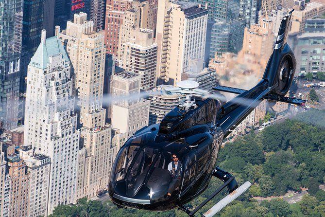 Helicóptero City Lights Skyline
