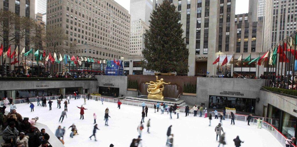 Patinar en Rockefeller Center