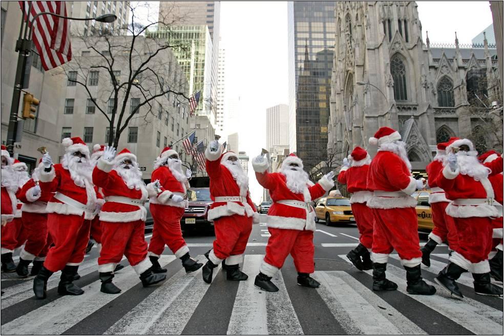 Santa Con en Nueva York