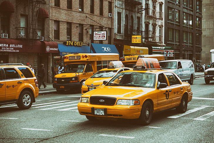 Taxis amarillos en NYC