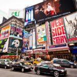 Distrito de los teatros en Nueva York